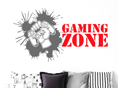 Wandtattoo Gaming Zone