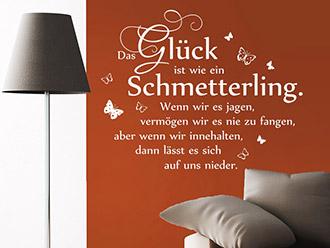 gl ck wandtattoo spr che f r ein gl ckliches zuhause. Black Bedroom Furniture Sets. Home Design Ideas