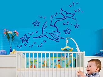 Wandtattoo babyzimmer s e baby motive mit namen - Wandtattoo unterwasserwelt ...