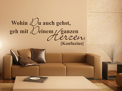 wandtattoo gef hle zitate als wandtattoos mit gef hl. Black Bedroom Furniture Sets. Home Design Ideas