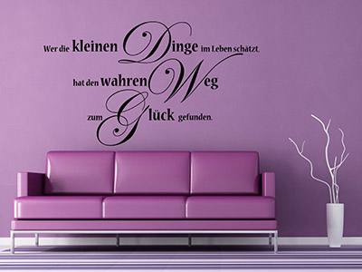 wandtattoo gl ck spr che f r ein gl ckliches zuhause. Black Bedroom Furniture Sets. Home Design Ideas