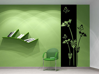 wandbanner blumen wandtattoo motive. Black Bedroom Furniture Sets. Home Design Ideas
