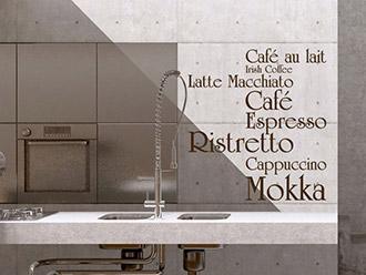 kuchenschrank cappuccino : Wandtattoo Caf?, Espresso, Cappuccino