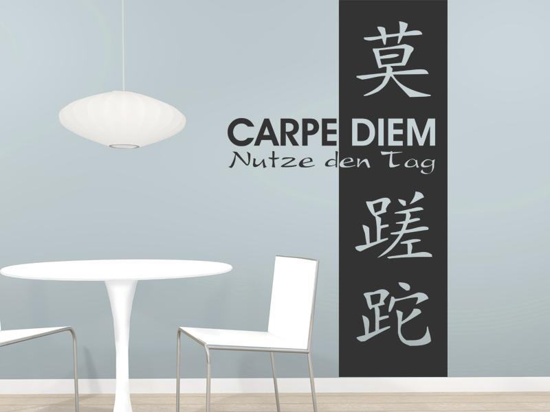 Wonderful Wandbanner Schriftzeichen Carpe Diem