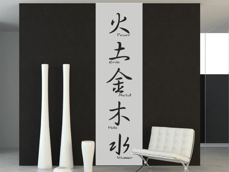 Wandbanner Feng Shui Mit Beschriftung