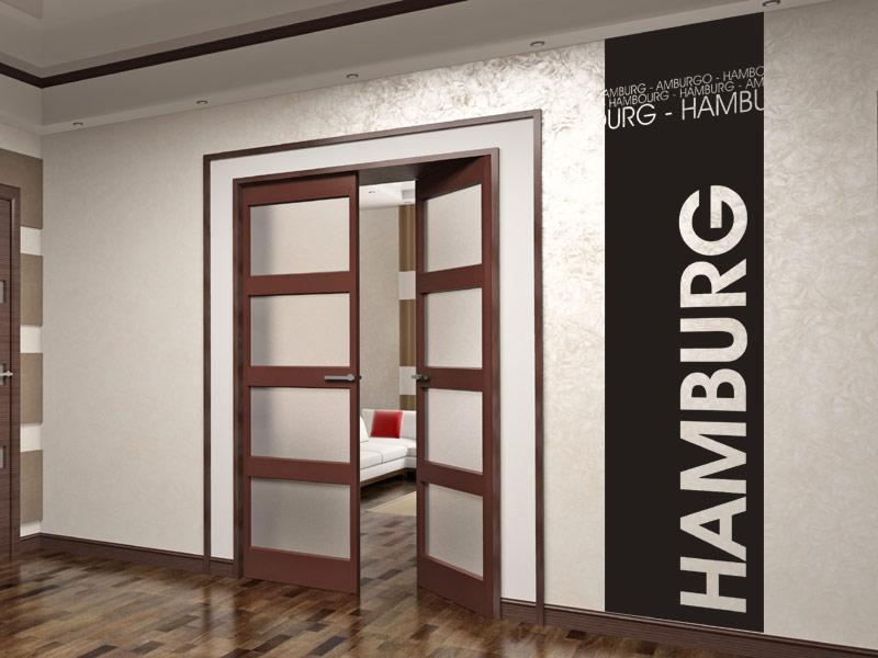 Wandbanner hamburg wandtattoo hansestadt - Wanddesign farbe ...