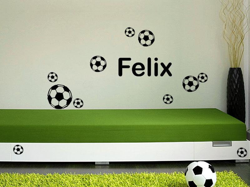 Kinderzimmer Junge Wandgestaltung Fussball | afdecker.com