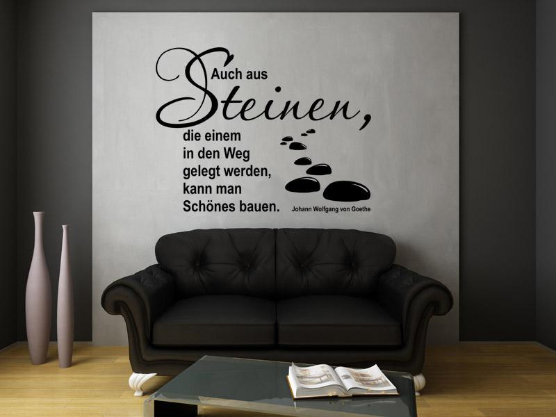 Auch aus Steinen Wandtattoo Zitat
