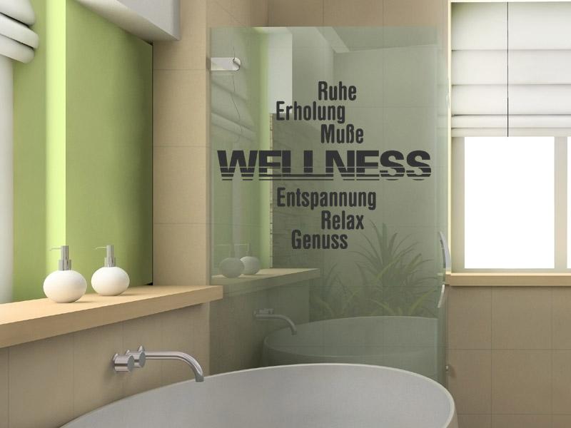 Wandtattoo wellness relax ruhe erholung - Wandtattoo wellness ...
