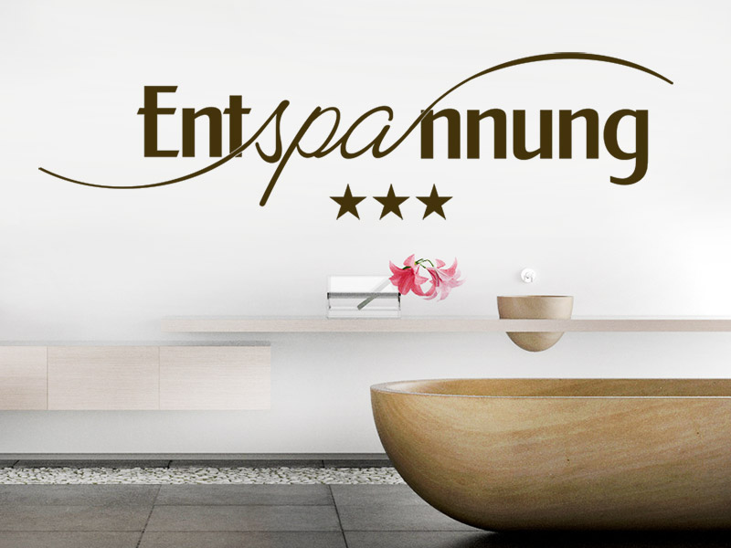 wandtattoo entspannungs spa mit sternen. Black Bedroom Furniture Sets. Home Design Ideas