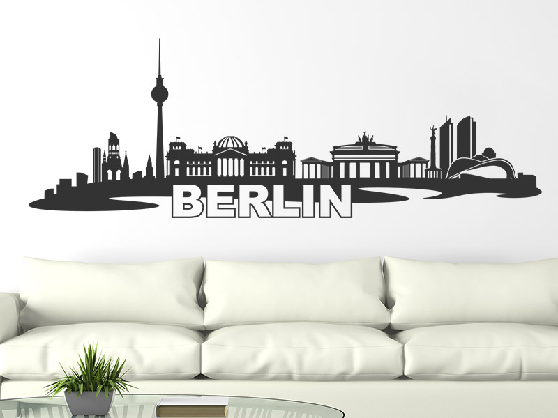 Berlin Wandtattoo wandtattoo skyline berlin | wandtattoos.de
