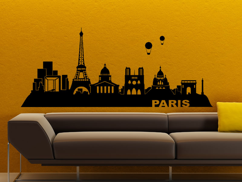 Wandtattoo Skyline Paris Wandtattoo wohnzimmer Eifelturm Wandtattoo Paris a180