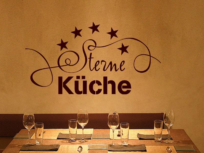 Sterne Küche Wandspruch Von