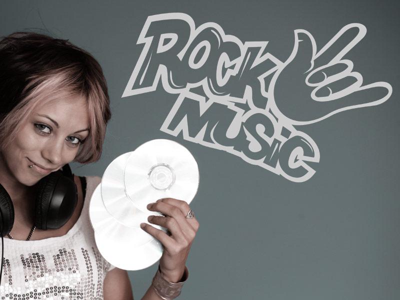 Rock music wandtattoo
