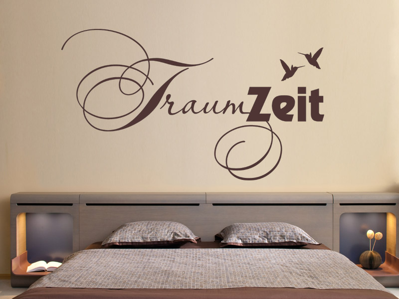 wandtattoo traum zeit mit v geln. Black Bedroom Furniture Sets. Home Design Ideas