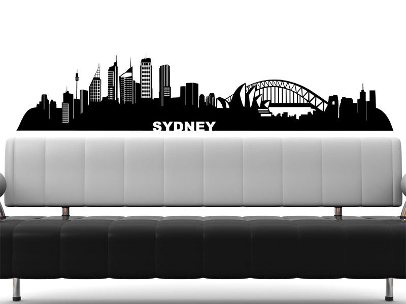 wandtattoo sydney skyline sydney wandtattoo bei. Black Bedroom Furniture Sets. Home Design Ideas