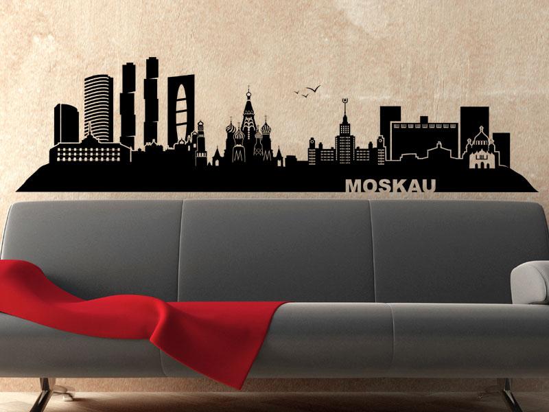 wandtattoo moskau skyline moskau wandtattoo bei. Black Bedroom Furniture Sets. Home Design Ideas