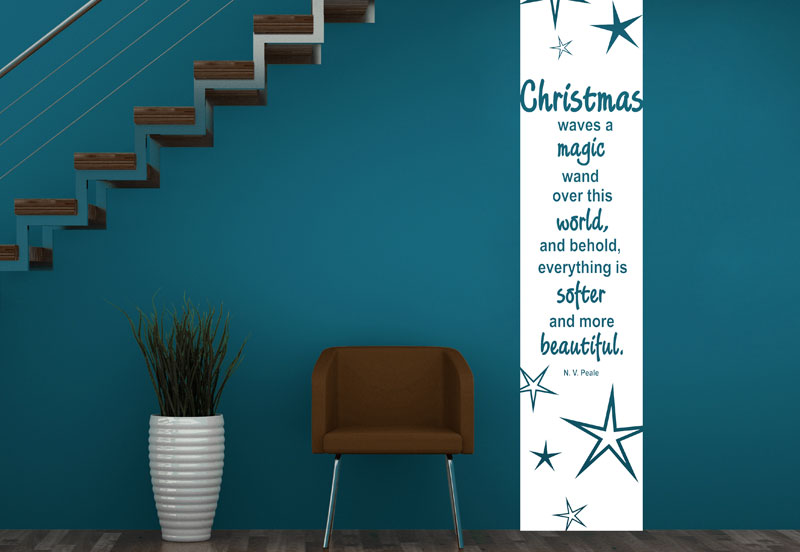 Wandbanner Christmas Waves A Magic Wand Wandtattoos De