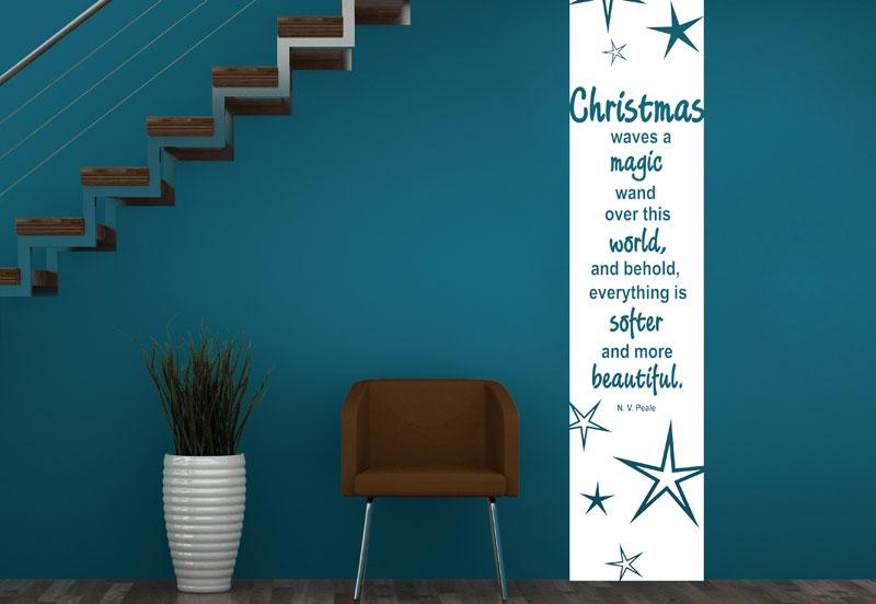 banner weihnachten wandtattoo wandbanner weihnachtssterne bei. Black Bedroom Furniture Sets. Home Design Ideas