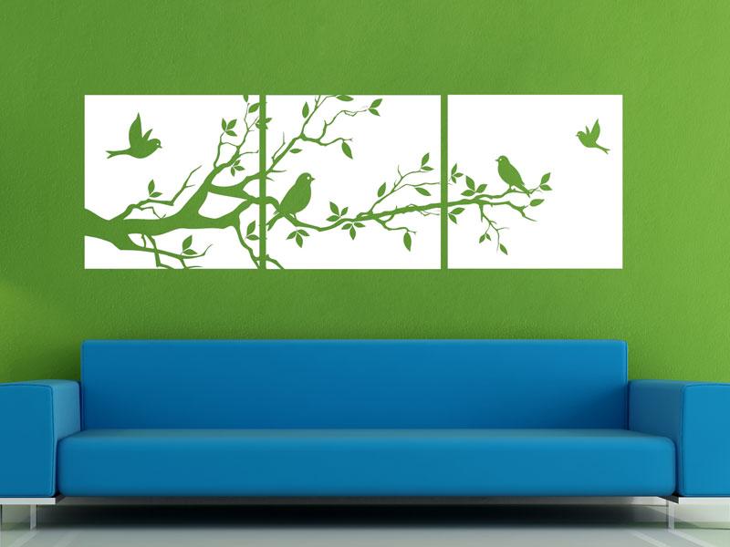 vogel banner wandtattoo wandbanner set ast bei. Black Bedroom Furniture Sets. Home Design Ideas
