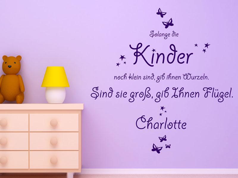 wandtattoo babyzimmer - süße baby motive mit namen - wandtattoos.de