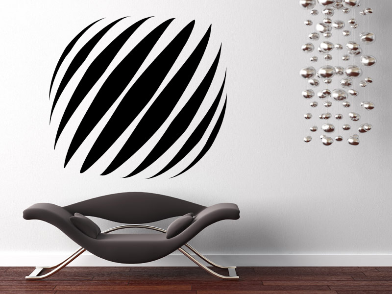 wandtattoo 3d element streifen. Black Bedroom Furniture Sets. Home Design Ideas