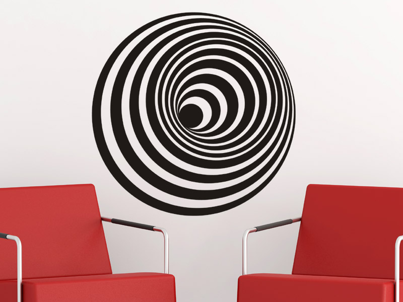 wandtattoo 3d objekt spirale. Black Bedroom Furniture Sets. Home Design Ideas