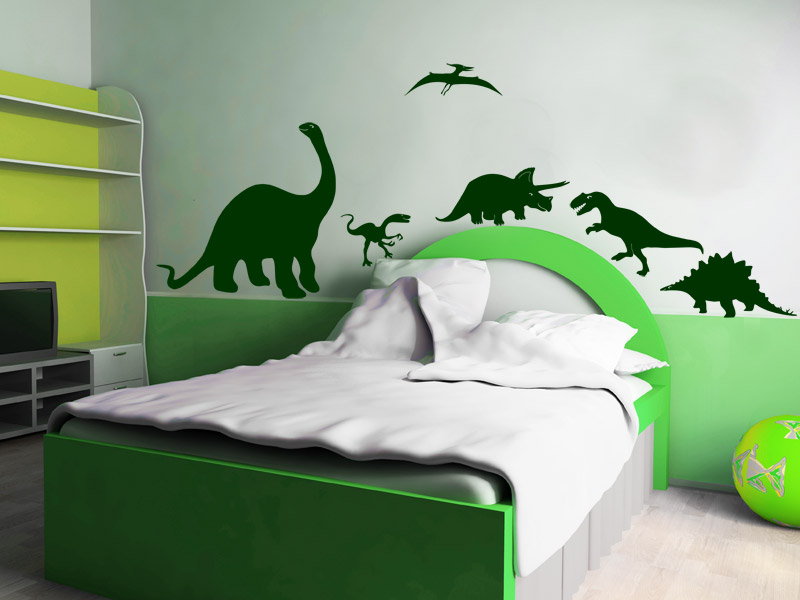 wandtattoo dinos urzeit set. Black Bedroom Furniture Sets. Home Design Ideas