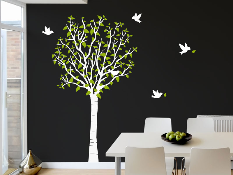 wandtattoo baum wandtattoo baum mit bl tter von. Black Bedroom Furniture Sets. Home Design Ideas