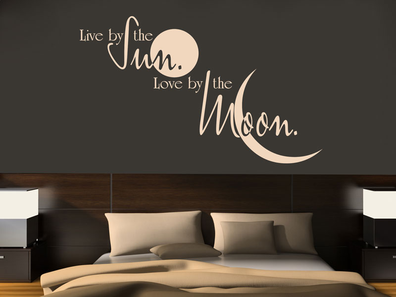 wandtattoo live by wandsticker von. Black Bedroom Furniture Sets. Home Design Ideas