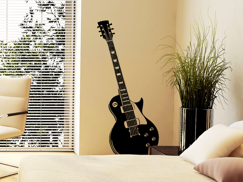 wandtattoo gitarre elektrische gitarre. Black Bedroom Furniture Sets. Home Design Ideas
