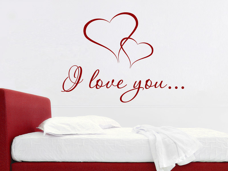 wandtattoo i love you i love you von. Black Bedroom Furniture Sets. Home Design Ideas
