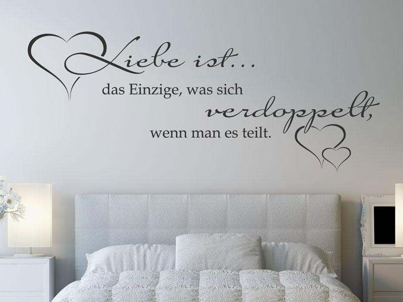 Wandtattoo Liebe ist das Einzige, was sich... - Wandtattoos.de