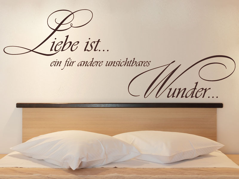 wandtattoo liebe ist ein wunder. Black Bedroom Furniture Sets. Home Design Ideas