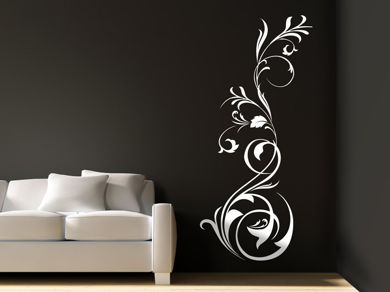 stilvolles wandtattoo ornament stilvolle wandtattoos als ornamente. Black Bedroom Furniture Sets. Home Design Ideas