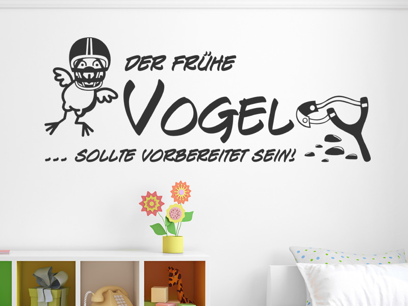 wandtattoo der fr he vogel sollte vorbereitet. Black Bedroom Furniture Sets. Home Design Ideas