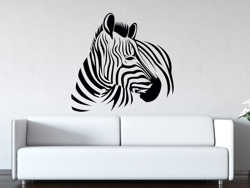 wandtattoo zebra wandtattoo zebras wandtattoos streifen. Black Bedroom Furniture Sets. Home Design Ideas