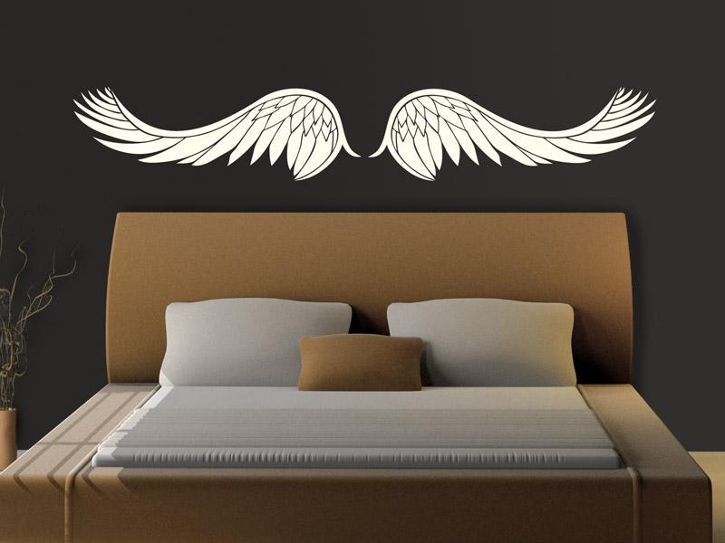 wandtattoo fl gel engelsfl gel. Black Bedroom Furniture Sets. Home Design Ideas