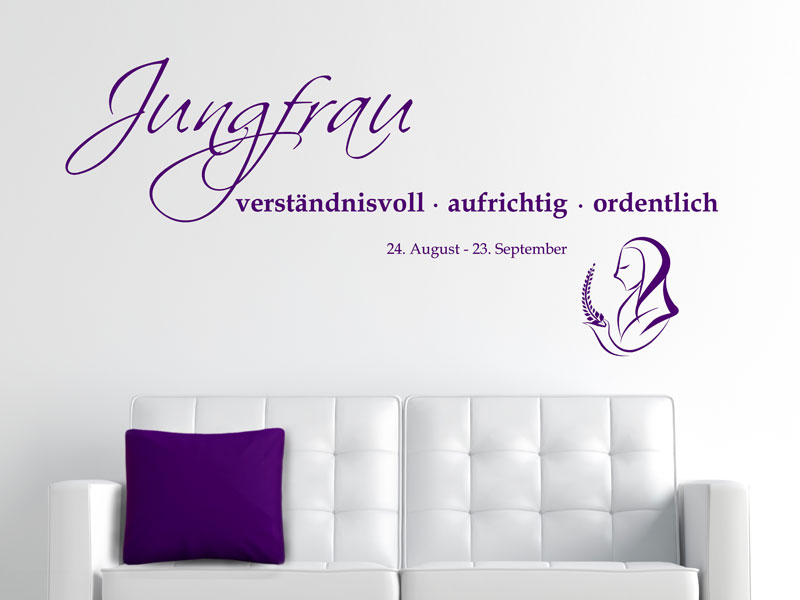 wandtattoo sternzeichen jungfrau eigenschaften. Black Bedroom Furniture Sets. Home Design Ideas