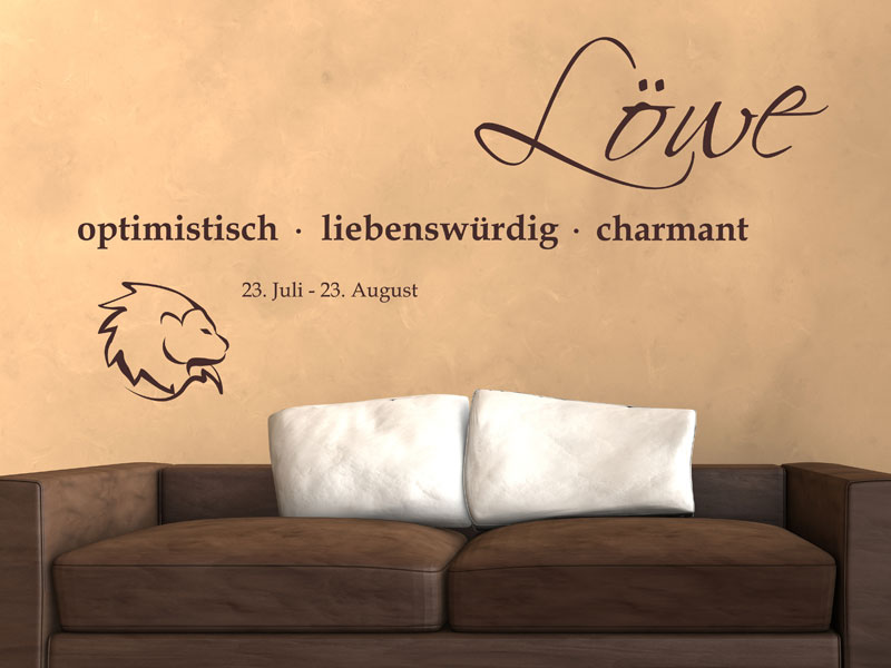 Wandtattoo Sternzeichen Löwe Eigenschaften - Wandtattoos.de