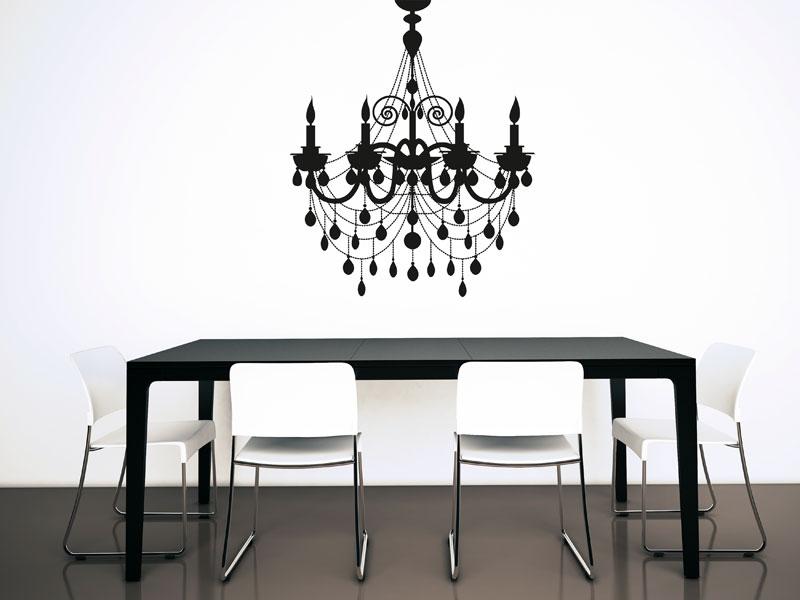 wandtattoo kronleuchter. Black Bedroom Furniture Sets. Home Design Ideas
