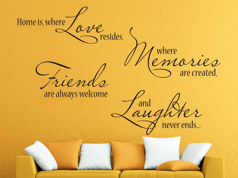 Wandtattoo home is where love resides - Wandtattoo home ...