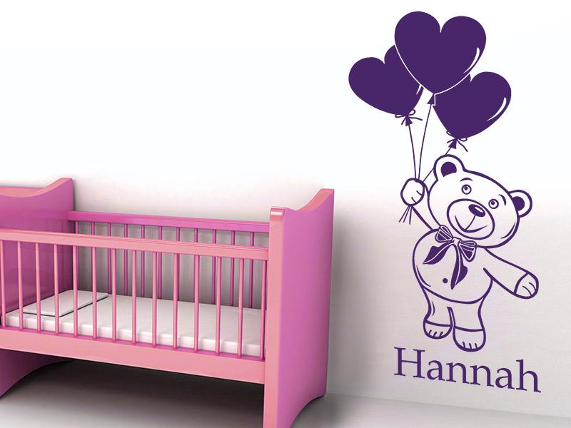 Wandtattoo babyzimmer mädchen  Wandtattoo Babyzimmer - Süße Baby Motive mit Namen - Wandtattoos.de