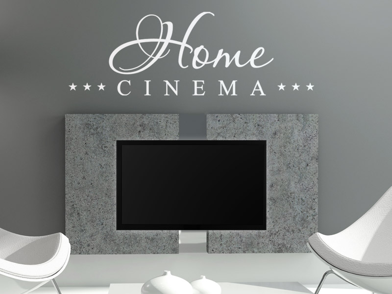 home cinema wandtattoo heimkino fernseher wandtattoos film. Black Bedroom Furniture Sets. Home Design Ideas