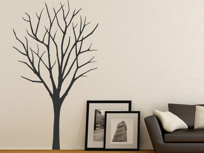 wandtattoo dekorativer winterbaum. Black Bedroom Furniture Sets. Home Design Ideas