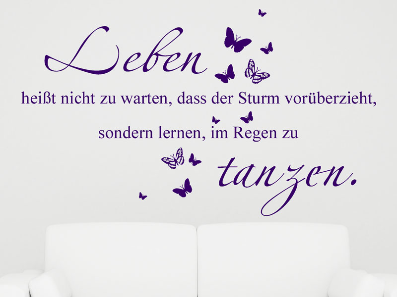 leben hei t nicht wandtattoo im regen tanzen wandsticker von. Black Bedroom Furniture Sets. Home Design Ideas