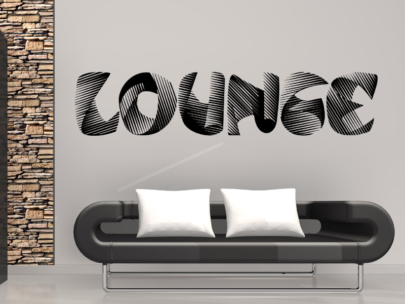 lounge wandtattoo lounge wandtattoos lounge mit 3d effekt. Black Bedroom Furniture Sets. Home Design Ideas