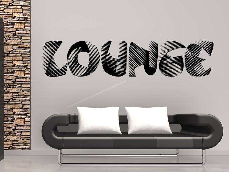 Wandtattoo Lounge mit 3D Effekt - Wandtattoos.de