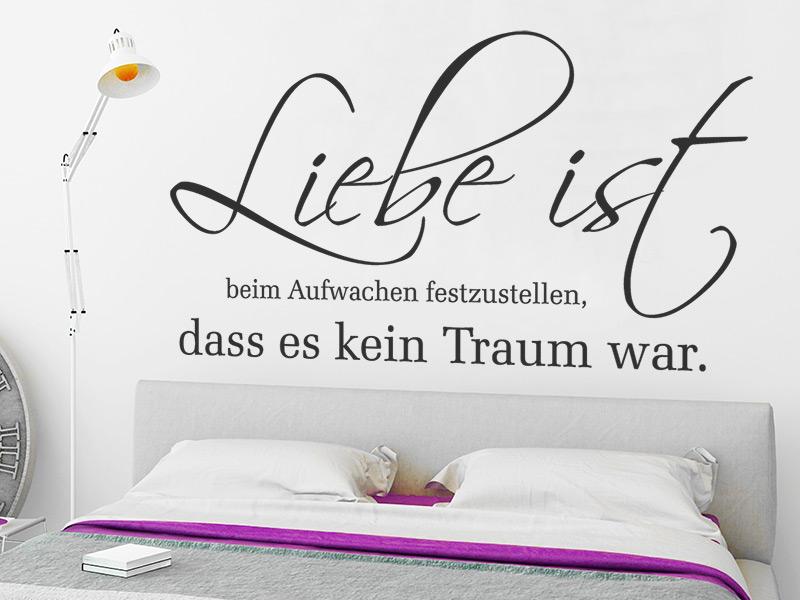 Wandtattoo Liebe ist... bei Wandtattoos.de