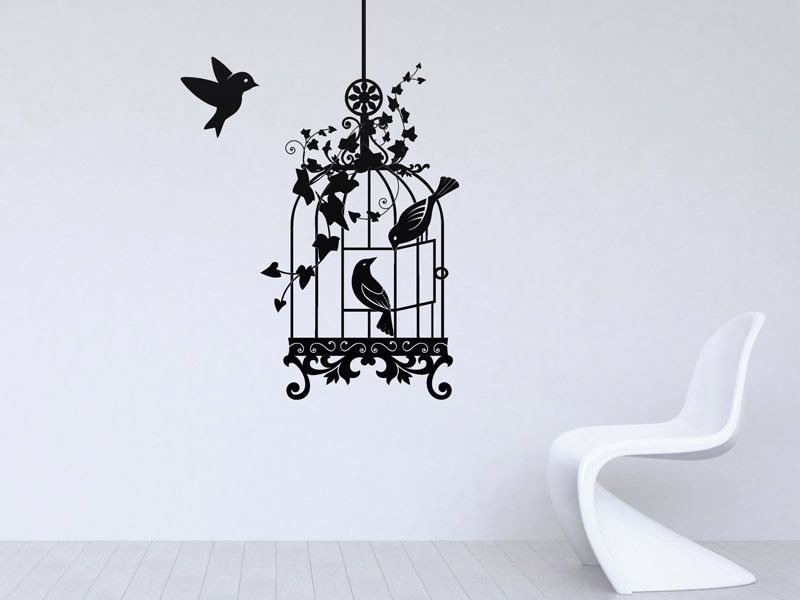 wandtattoo vogelk fig filigranes design. Black Bedroom Furniture Sets. Home Design Ideas